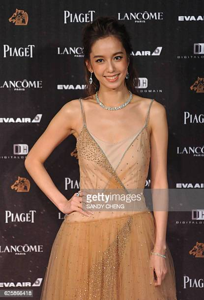 Taiwan actress Annie Chen arrives for the 53rd Golden Horse Film Awards in Taipei on November 26 2016 Movie stars gathered in Taipei for the Oscars...