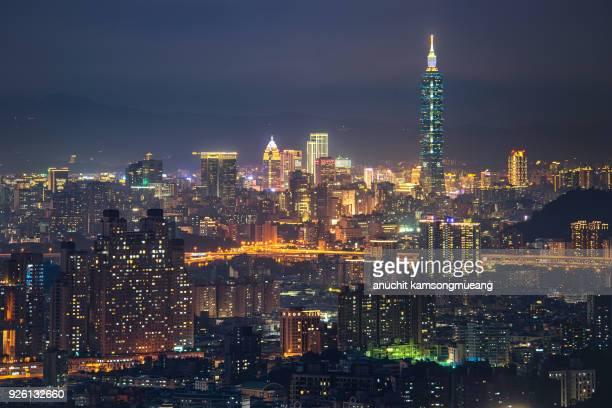 taiwan night - taipei 101 個照片及圖片檔