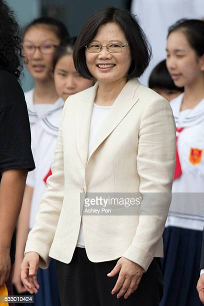 Taiwan President Tsai Ing-wen attends the celebration of the 14th presidential inauguration on May 20, 2016 in Taipei, Taiwan. Taiwan's new president...