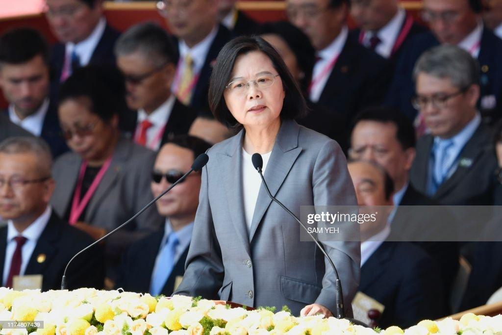 TAIWAN-POLITICS-NATIONAL DAY : News Photo