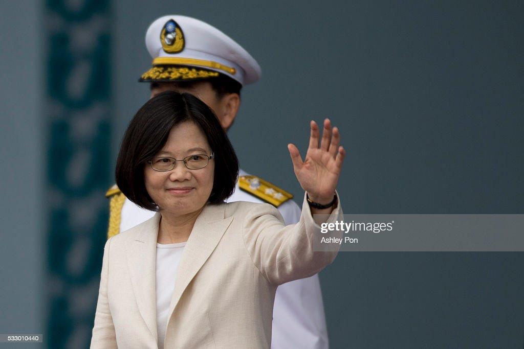 Taiwan President Tsai Ing-wen Inauguration In Taipei : News Photo