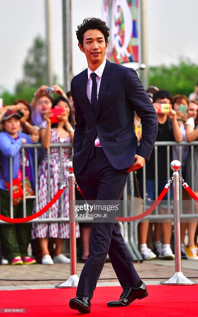 Taiwanese actor Liu Yi-Hao arrives on the red carpet at the