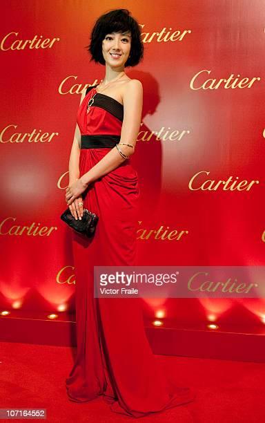 Taiwanese actress Gui Lun Mei attends the Cartier Flagship Opening on November 26 2010 in Hong Kong