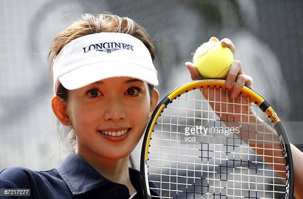Taiwanese actress Lin Chiling promotes Longines watch on May 13 2009 in Shanghai China