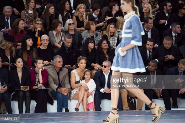 Taiwanese actress LunMei Guey French photographer Patrick Demarchelier US singer Jennifer Lopez her daughter Emme Maribel Muniz and partner Casper...