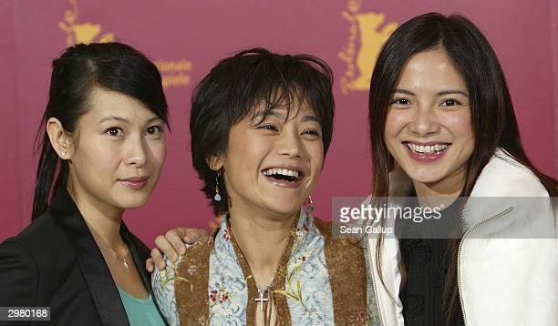 Taiwanese actress Rene Liu, Taiwanese actress and director Sylvia Chang and Malaysian actress Lee Sinje attend the photocall to the Hong...
