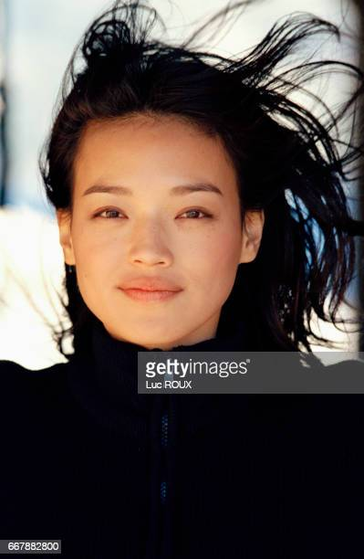 Taiwanese actress Shu Qi on the set of the film The Transportor codirected by Louis Leterrier and Corey Yuen