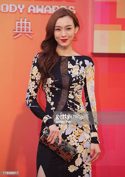 Taiwanese American Christine Fan arrives at the 24th Golden Melody Awards on July 6 2013 in Taipei Taiwan The Golden Melody Awards is one of the...