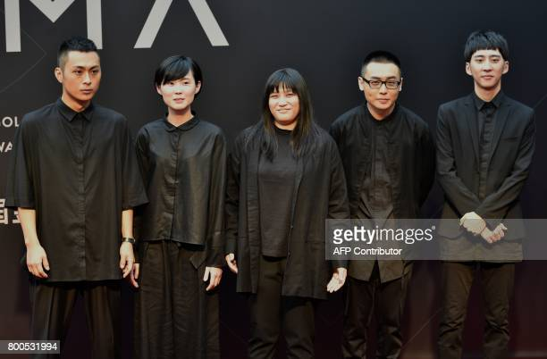 Taiwanese band No Party For Cao Dong arrives to attend the 28th Golden Melody Awards in Taipei on June 24 2017 Some of Mandarin pop's biggest names...