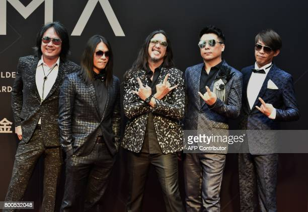 Taiwanese band The Charman arrives to attend the 28th Golden Melody Awards in Taipei on June 24 2017 Some of Mandarin pop's biggest names have...