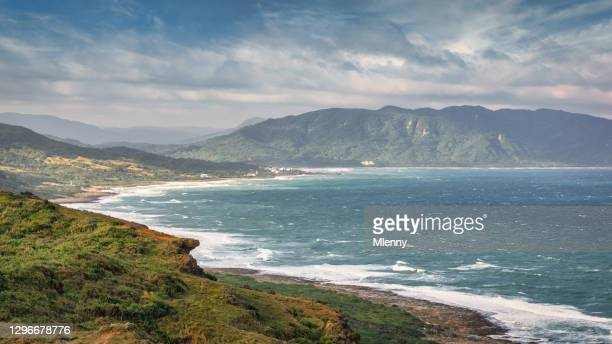 taiwanese east coast ocean view panorama taiwan daren taitung - mlenny stock pictures, royalty-free photos & images