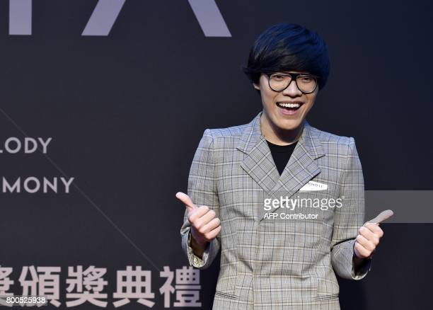 Taiwanese singer Crowd Lu arrives to attend the 28th Golden Melody Awards in Taipei on June 24 2017 Some of Mandarin pop's biggest names have...