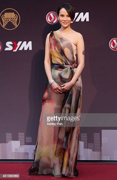 Taiwanese singer Faith Yang arrives at the 25th Golden Melody Awards on June 28 2014 in Taipei Taiwan Faith is nominated as Best Female Mandarin...