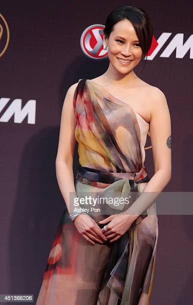 Taiwanese singer Faith Yang arrives at the 25th Golden Melody Awards event on June 28 2014 in Taipei Taiwan Faith is nominated as Best Female...