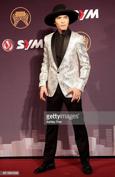 Taiwanese singer Jam Hsiao arrives at the 25th Golden Melody Awards in Taipei Taiwan Saturday June 28 2014 The Golden Melody awards in the annual...