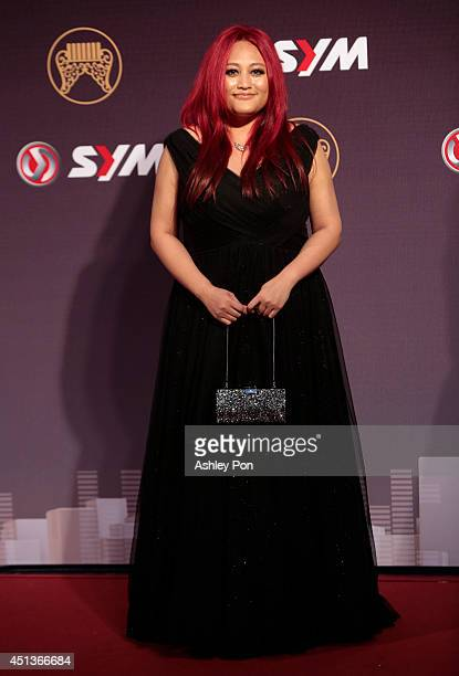 Taiwanese singer Jia Jia arrives at the 25th Golden Melody Awards on June 28 2014 in Taipei Taiwan Jia Jia is nominated as Best Female Mandarin...