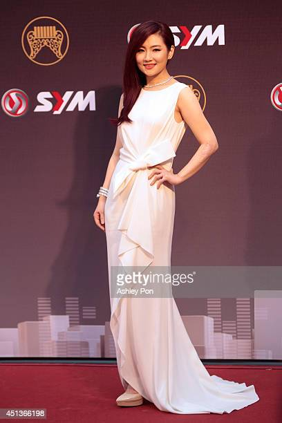 Taiwanese singer Selina arrives at the 25th Golden Melody Awards event on June 28 2014 in Taipei Taiwan The Golden Melody awards in the annual...