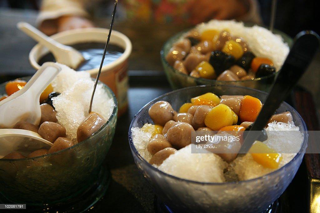 Taiwanese taro balls : Stock Photo