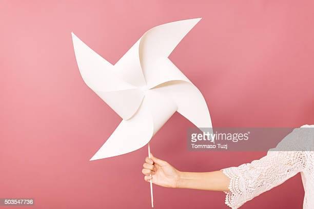 Taiwanese Woman holding a pinwheel