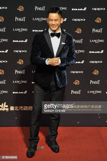 TaiwaneseUS actor Mason Lee arrives on the red carpet to attend Taiwan's 54th Golden Horse film awards dubbed the Chinese 'Oscars' in Taipei on...