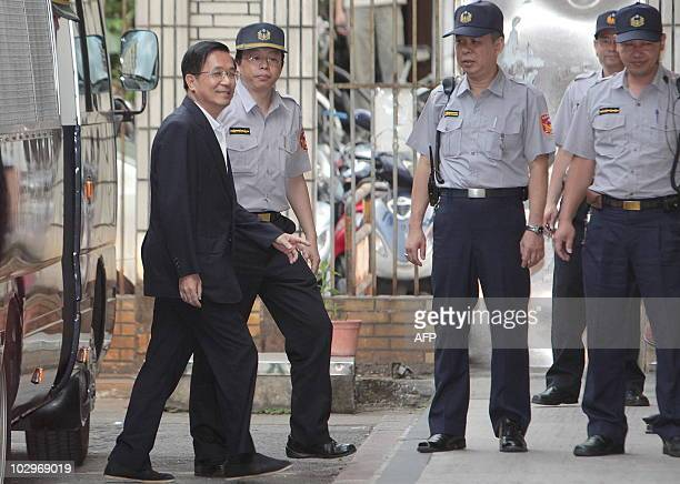 Taiwan's former president Chen Shui-bian arrives at the High Court in Taipei on July 19, 2010. Taiwan's High Court ruled Chen should be held in...