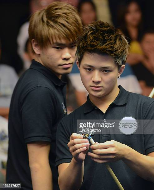 Taiwan's Han En Hsu and Hsin Ting Chen compete against Great Britain's Darren Appleton and Chris Melling during the quarterfinals of the 2012...