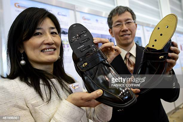 Taiwan's Yin Yueh Macherel and HsiangChi Wu present on April 2 2014 a invention some adjustable massage insoles with multiple independant heads...