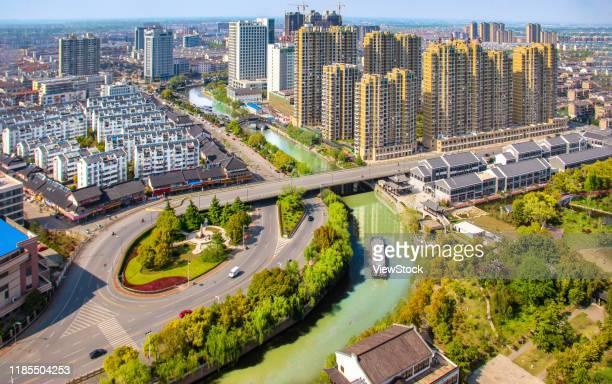 taizhou jiangyan district urban construction in jiangsu province - jiangsu province stock pictures, royalty-free photos & images