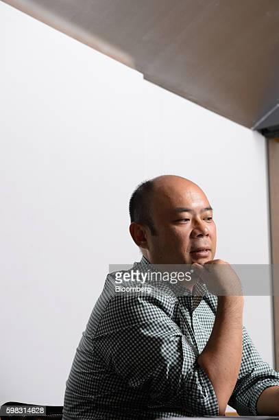 Taizo Son chief executive officer of Mitletoe Inc pauses during an interview in Tokyo Japan on Tuesday Aug 30 2016 When he launched Mistletoe three...