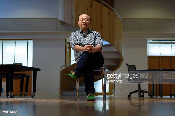 Taizo Son chief executive officer of Mitletoe Inc sits for a photograph at the Mistletoe Base Camp Tokyo office in Tokyo Japan on Tuesday Aug 30 2016...