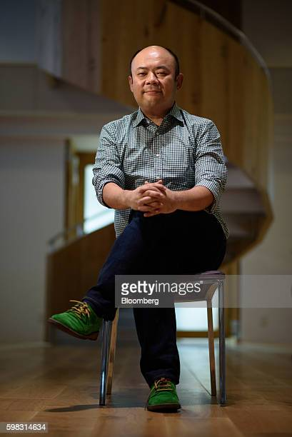 Taizo Son chief executive officer of Mitletoe Inc sits for a photograph at the Mistletoe Base Camp Tokyo office Tokyo Japan on Tuesday Aug 30 2016...
