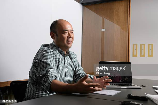 Taizo Son chief executive officer of Mitletoe Inc speaks during an interview in Tokyo Japan on Tuesday Aug 30 2016 When he launched Mistletoe three...