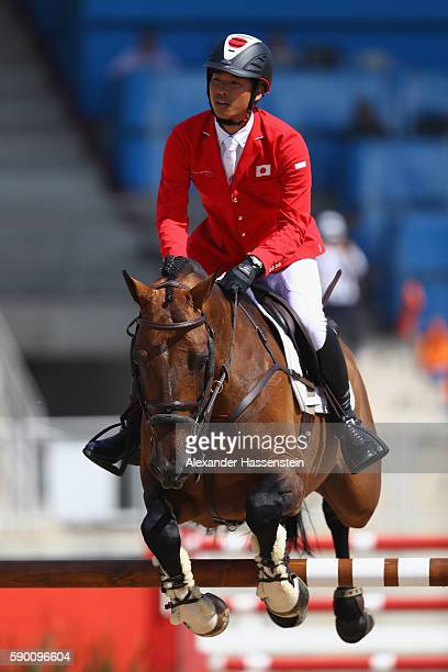 Taizo Sugitano of Japan rides Imothep during the Team Jumping on Day 11 of the Rio 2016 Olympic Games at the Olympic Equestrian Centre on August 16...