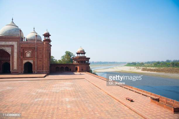 taj complex in the morning, agra, india. - palace stock pictures, royalty-free photos & images
