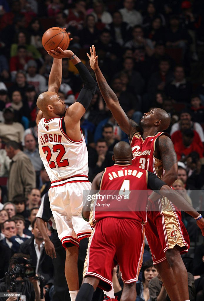 Taj Gibson of the Chicago Bulls shoots a jumpshot against