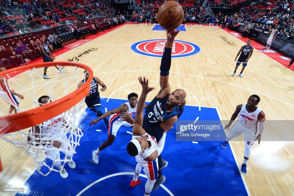 Minnesota Timberwolves v Detroit Pistons
