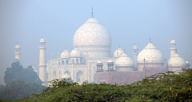 Taj In Morning Mist Wall Art