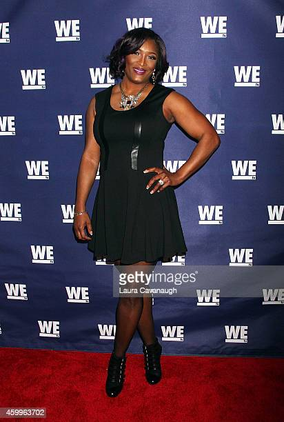 Taj Johnson George attends 'SWV' 'Love Thy Sister' And 'Match Made In Heaven' Red Carpet Event at 54 Below on December 4 2014 in New York City