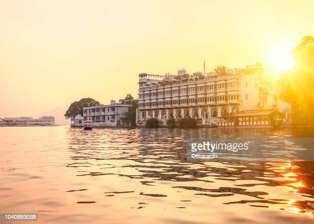 Taj Lake Palace, Lake Pichola, and some buildings