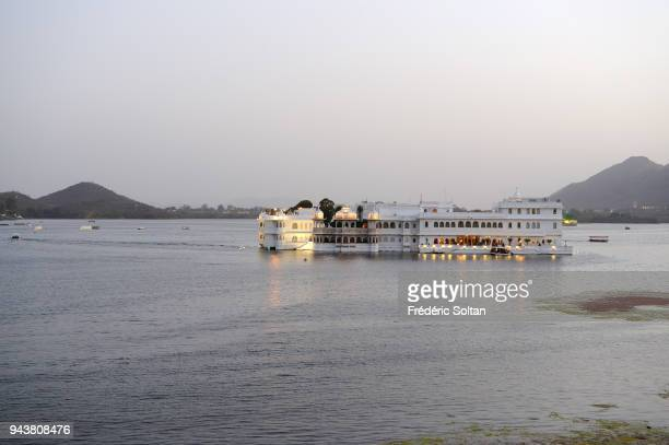 Taj Lake Palace on Lake Pichola in Udaipur in Rajasthan on March 10 2017 in India