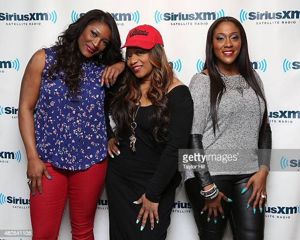 Taj Lelee and Coko of Sisters With Voices visit the SiriusXM Studios on April 3 2014 in New York City