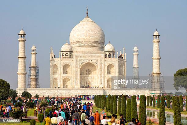 taj mahal, agra, uttar pradesh, rajasthan, india, asia - taj mahal stock photos and pictures