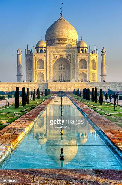 Taj Mahal and its reflection in pool, HDR
