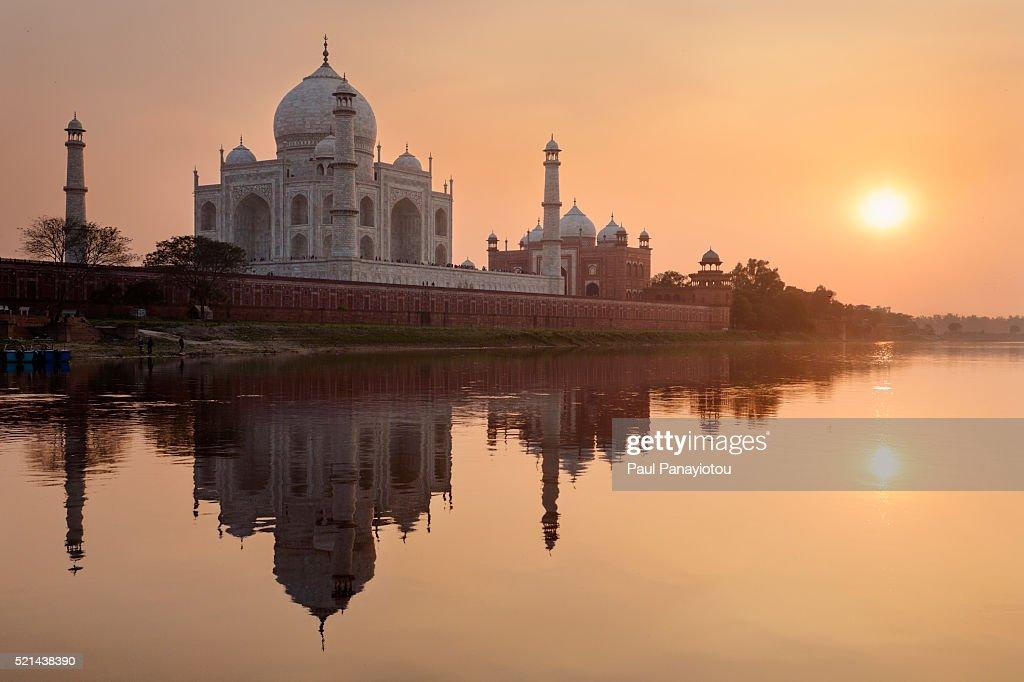 India Taj Mahal Sunset