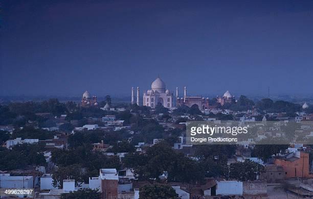 Taj Mahal at night full moon