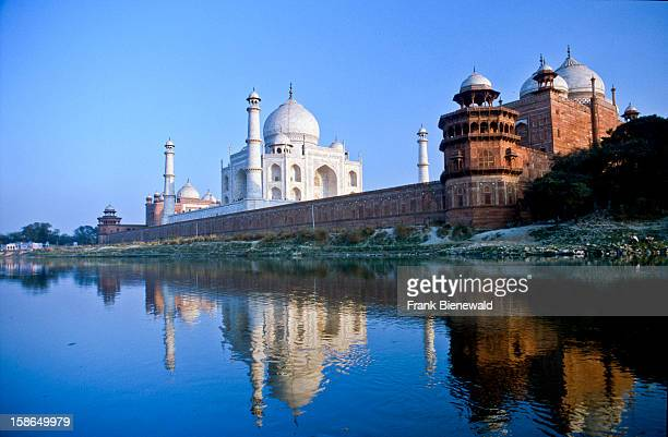 Taj Mahal at the banks of the river Yamuna one of the most romantic places in India