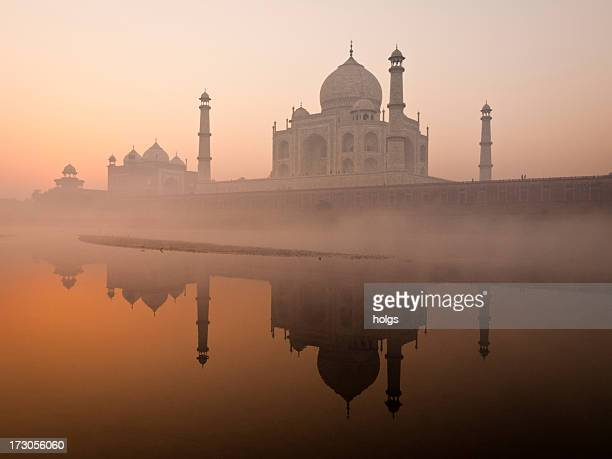 Taj Mahal avant le lever du soleil, Agra, Inde