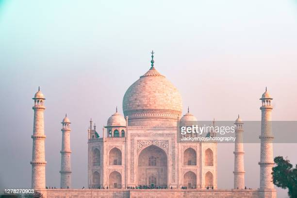 taj mahal before sunset,agra city,india. - taj mahal stock pictures, royalty-free photos & images