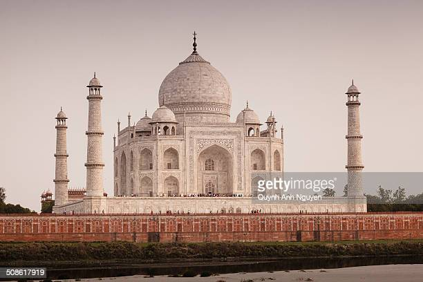 Taj Mahal from the Yamuna River Agra Uttar Pradesh India