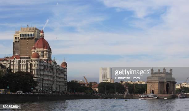 Taj Mahal Hotel and Gateway of India in Mumbai